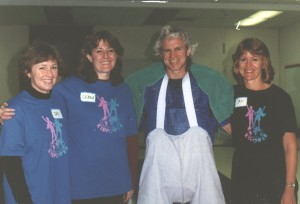 1994 Local co-founders Jan DeBoer, Debra Campeau, Jan Isaacs Henry with Timothy Dunphy, Int'l Co-Founder
